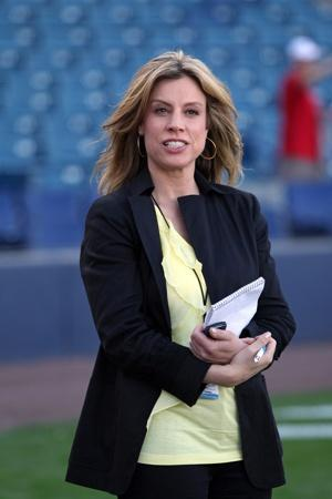 YES Networks' sports reporter Kim Jones